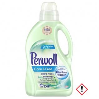 Perwoll Care und Free farbstoffreies Waschmittel Mizellenwasser 1500ml