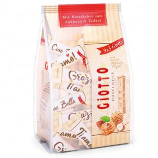 Giotto 9x3 Mini Gebäck Kügelchen mit Waffelhülle 348g 3er Pack