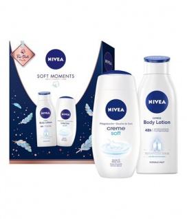 Nivea Soft Moments Geschenkset Bodylotion und Pflegedusche 2x 250ml