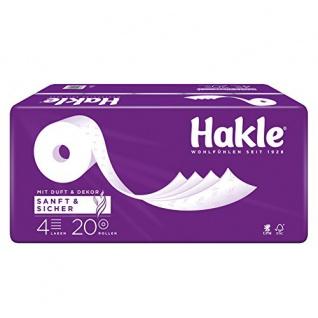 """Hakle Toilettenpapier """" Sanft & Sicher"""" 4-lagig, 16 Rollen mit 130 Blatt"""