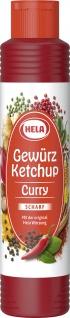 Hela Gewürz Ketchup Curry scharf mit Pfeffer Chili und Paprika 500ml