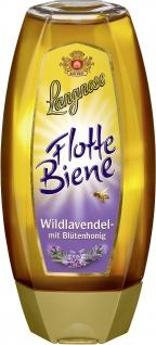 Langnese Flotte Biene Wildlavendel Honig in der Spueeze Flasche 500g