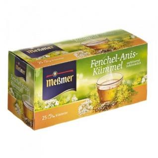 Meßmer Teegetränk Fenchel Anis und Kümmel Kräutertee 50g 12er Pack