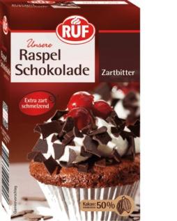RUF Raspel Schokolade Zartbitter extra zart und schmelzend 100g