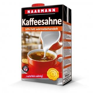 Naarmann Kaffeesahne 10 Prozent Fett wärmebehandelt Tetra Pack 1000ml