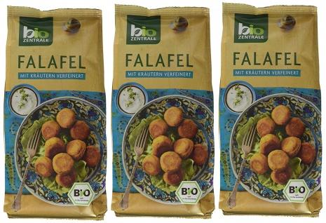Biozentrale Bio Falafel mit Kräutern verfeinert 200g 3er Pack