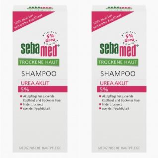 Sebamed Shampoo Urea Akut spendet intensiv Feuchtigkeit 200ml 2er Pack