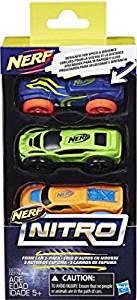 Hasbro Nerf Nitro Soft Racer 3 Stück, 1er Pack