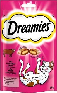 Dreamies mit Rind für Katzen leckerer Snack im Frischebeutel 60g