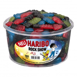 Haribo Rock Show Lakritz mit Fruchtgummi in Instrumenten Optik 1200g