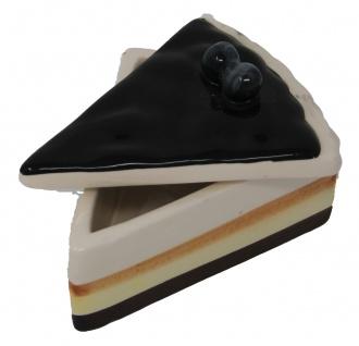 Aufbewahrungsdose im originellem Kuchenstück Design Johannesbeere