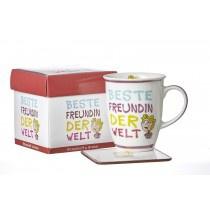 Ritzenhoff und Breker Kaffeebecher mit Geschenkebox Beste Freundin