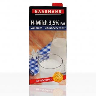 Naarmann H Milch 3.5 Fett Vollmilch ultrahocherhitzt 1000ml 6er Pack