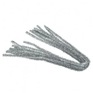 Meyco Chenilledraht Pfeiffenputzer in metallic silber 10 Stück