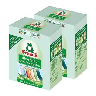 Frosch Aloe Vera Color-Waschpulver, 1, 35 kg - Sensitiv mit Aloe Vera 2er Pack