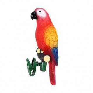 LED Solarbetriebene Lampe mit Papagei Design Gartendeko Figur mit Klemme