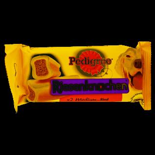 Pedigree Riesenknochen Medium mit Rind gesunder Kau Snack 2 Stück