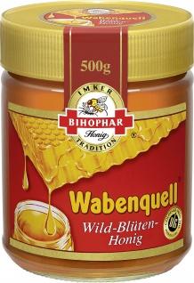 BIHOPHAR Wabenquell Wild Blüten Honig fein flüssig goldklar 500g