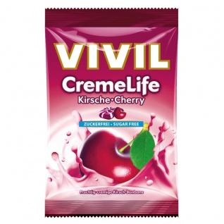 Vivil CremeLife Kirsche fruchtig sahnige Bonbons Zuckerfrei 110g