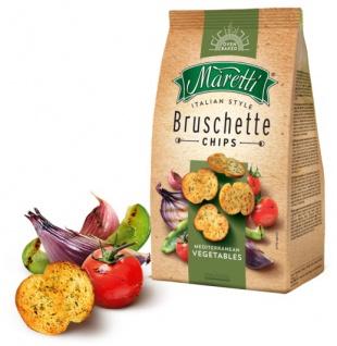 Maretti Bruschette Mediterranean Vegetables leckere gebackene Brotscheiben 150g