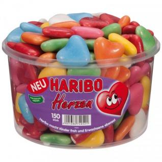 Haribo Baiser Herzen dragierte Schaumzucker Herzen Fruchtig 1050g