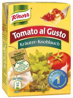 Knorr Tomato al Gusto Kräuter Knoblauch, 8er Pack
