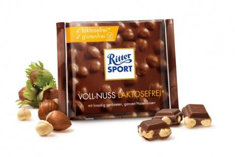 Ritter Sport Voll Nuss laktosefrei glutenfrei Ganze Haselnüsse 100g