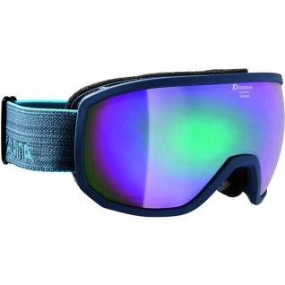 Alpina Scarabeo MM navy matt Ski und Snowboardbrille Emerald
