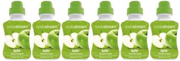 SodaStream Konzentrat Apfel Geschmack Getränkesirup 500ml 6er Pack