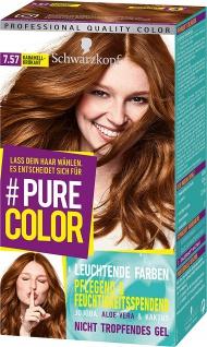 SCHWARZKOPF PURE COLOR Coloration 7.57 Karamell-Krokant Stufe 3 143 ml