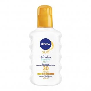 Nivea Sun Schutz Sensitiv Spray für empfindliche Haut LSF 30 200ml