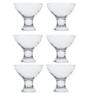 Eisschale Dessertschale Glasschale Monatana Serie PALMA 11 cm 6er Set
