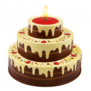 Heidel Große Geburtstagstorte Creme mit einzelnen Pralinen 86g