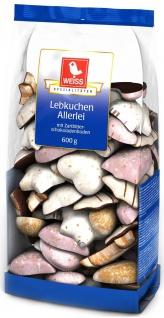Weiss Lebkuchen Mischung Allerlei mit Zartbitterschokolade 600g