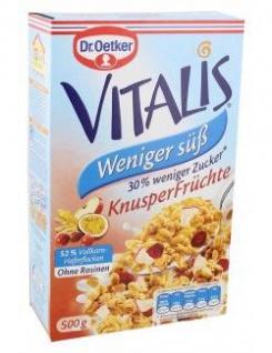 Dr. Oetker Vitalis weniger süß Knusper Früchte