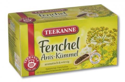 Teekanne Fenchel Anis und Kümmel aromatisch und würzig 4er Pack