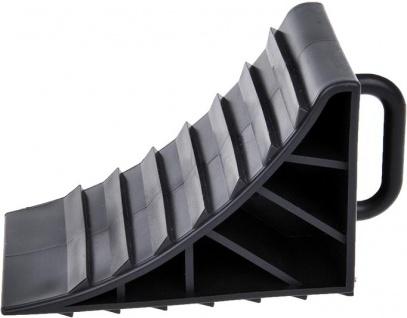 Pro Plus Unterlegkeil aus Kunststoff mit Griff in der Farbe schwarz