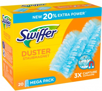 Swiffer Staubmagnet Nachfüllset mit Extra Power 20 Staubtücher
