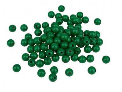 Meyco 120 Holzperlen 6mm in dunkelgrün schweiß und speichelfest