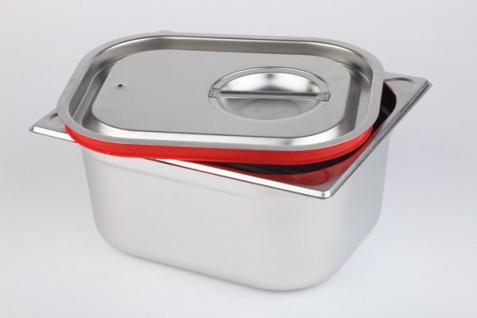 Assheuer und Pott Deckel Gastroniomie Behälter roter Silikondichtung