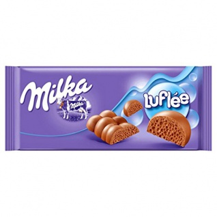 Milka Luflee Lecker Alpenmilch Luftschokolade Tafelschokolade 100g
