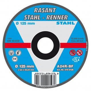 Rasant Stahl Renner Trennscheibe 125mm für Heim und Handwerker 5 Stück