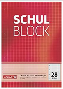 Schulblock A4 Lineatur 28