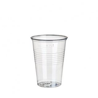 Trinkbecher aus Polystyrol 250ml glasklar von Papstar 80 Stück