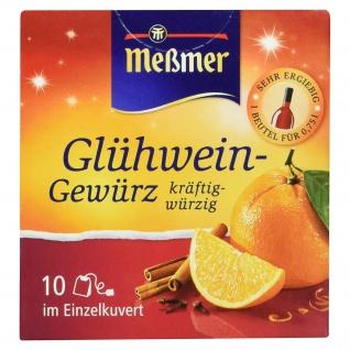 Meßmer Glühwein Gewürz kräftig würzig 10 Beutel Einzelkuvert 15g