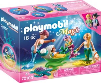 Playmobil Magic Familienausflug Familie mit Muschelkinderwagen 70100