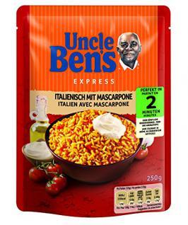 Uncle Ben's Express-Reis Italienisch Tomate & Mascarpone, 6er Pack (6x250g)