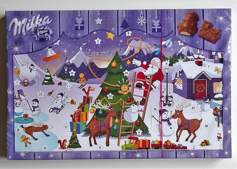 Milka Weihnachtskalender.Mondelez Milka Adventskalender Weihnachten 200g