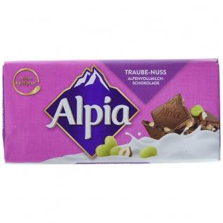 Alpia Alpenvollmilchschokoladen Tafel mit Traube Haselnuss 100g