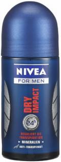 Nivea Deodorant Roll-On Dry Impact für Männer 50 ml, 3er Pack (3 x 50 ml) - Vorschau